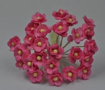 1.3cm PINK DOUBLE-LAYERED Daisy Mulberry Paper Flowers